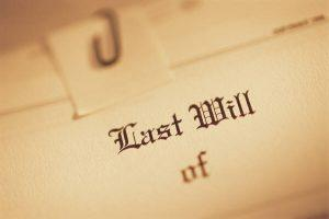Wills and dealing with a deceased person's estate