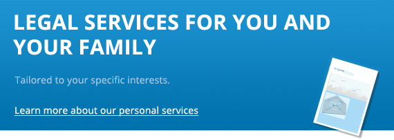 Legal services for you and family